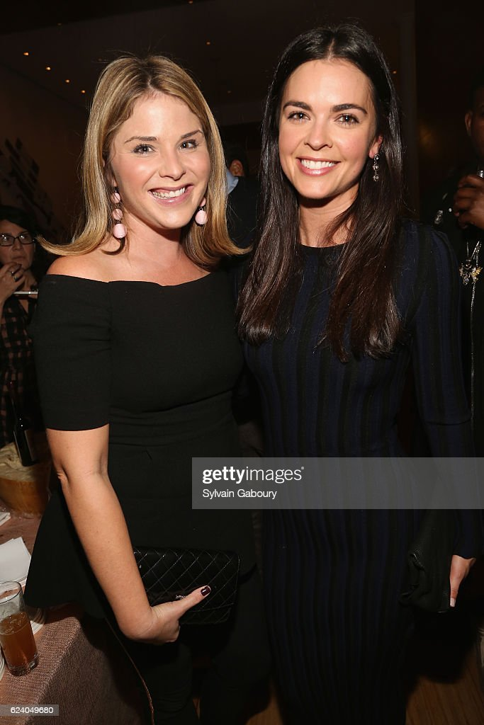 Jenna Bush Hager and Katie Lee attend Edible Schoolyard NYC Annual Harvest Dinner with Chef Massimo Bottura, Hosted by Lela Rose at Private Residence on November 17, 2016 in New York City.
