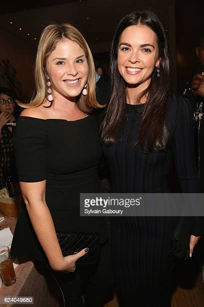 Jenna Bush Hager and Katie Lee attend Edible Schoolyard NYC Annual Harvest Dinner with Chef Massimo Bottura Hosted by Lela Rose at Private Residence...