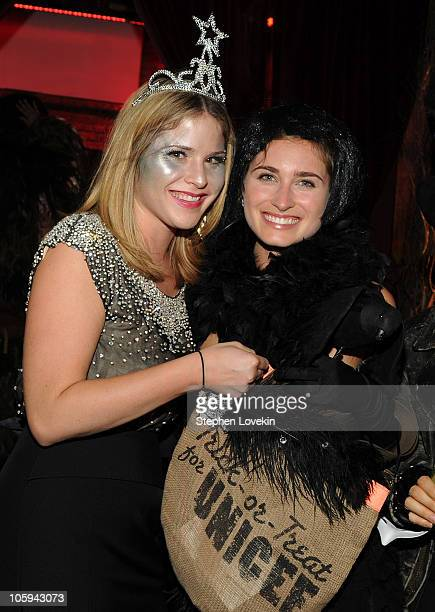 Jenna Bush Hager and Lauren Bush attend the 1st Annual Unicef Masquerade Ball at The Angel Orensanz Foundation on October 21 2010 in New York City