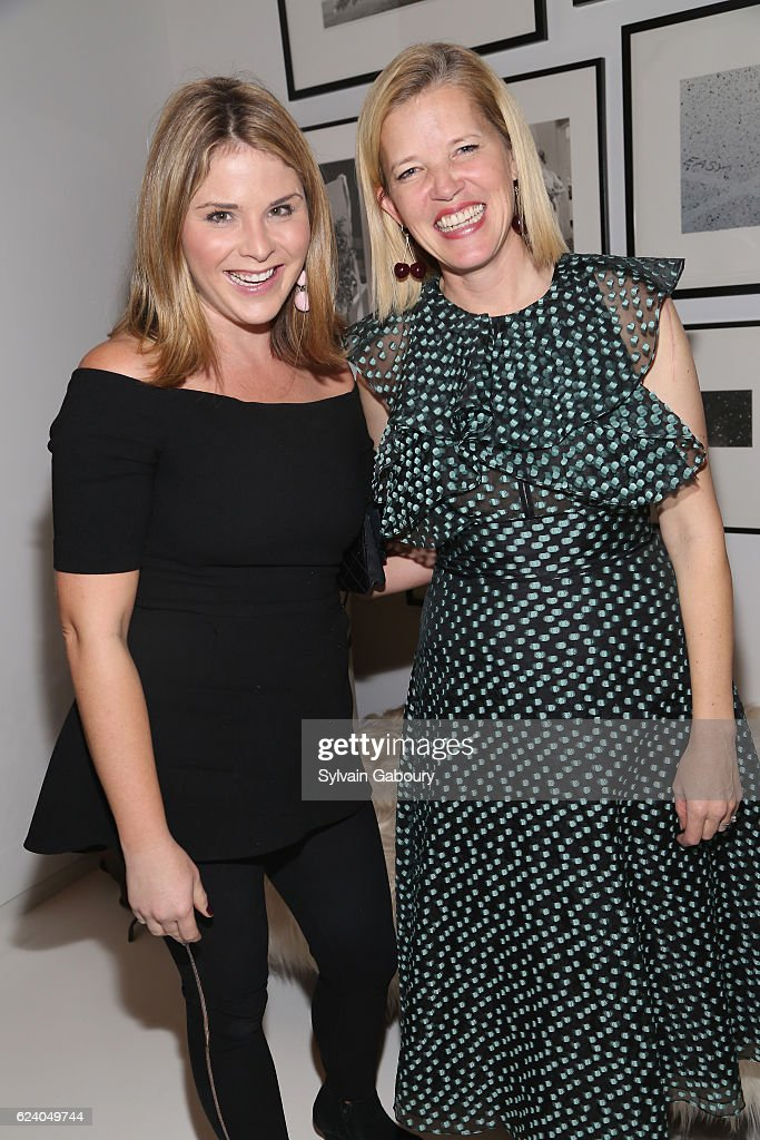 Jenna Bush Hager and Lela Rose attend Edible Schoolyard NYC Annual Harvest Dinner with Chef Massimo Bottura, Hosted by Lela Rose at Private Residence on November 17, 2016 in New York City.