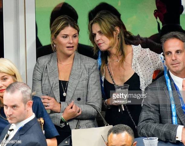 Jenna Bush Hager and Savannah Guthrie at the 2018 US Open Men's Final on September 9 2018 in New York City