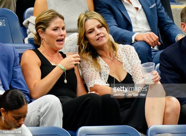 Jenna Bush Hager and Savannah Guthrie on September 9 2018 in New York City