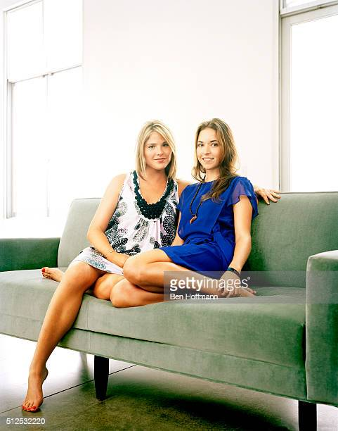 Jenna Bush Hager is photographed with friend photographer Mia Baxter for Glamour Magazine on August 16 2007 in New York City PUBLISHED IMAGE