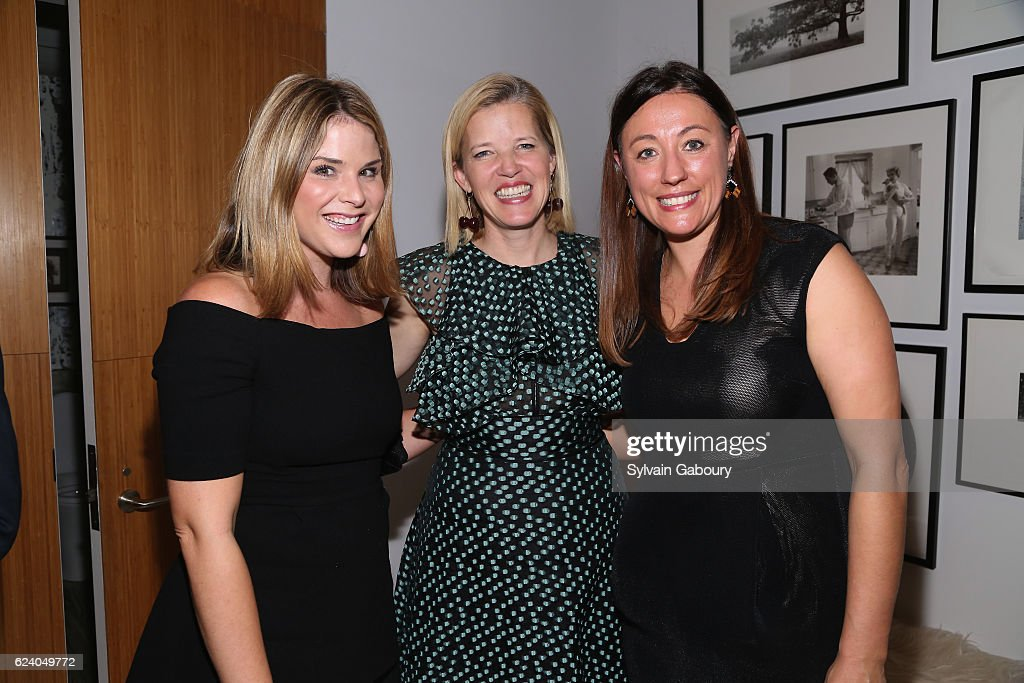 Jenna Bush Hager, Lela Rose and Kate Brashares attend Edible Schoolyard NYC Annual Harvest Dinner with Chef Massimo Bottura, Hosted by Lela Rose at Private Residence on November 17, 2016 in New York City.