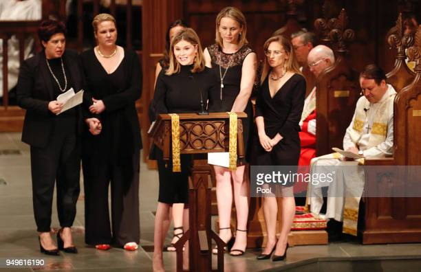 Jenna Bush Hager speaks during the funeral for her grandmother and former first lady Barbara Bush at St Martin's Episcopal Church on April 21 2018 in...