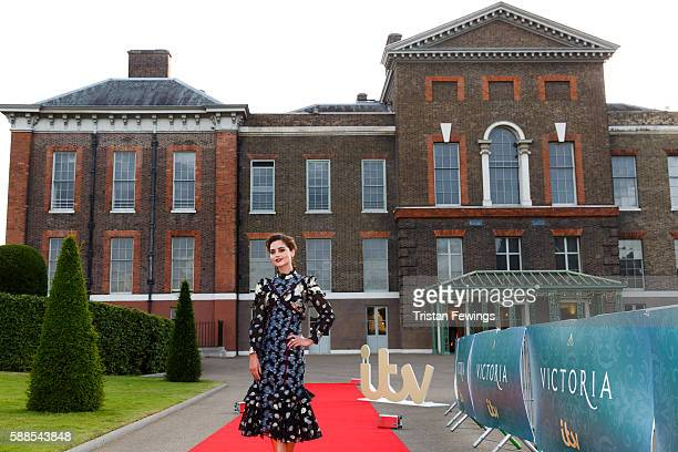 Jenna Coleman arrives for the premiere screening of ITV's Victoria at The Orangery on August 11 2016 in London England