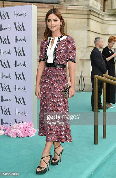Jenna Coleman arrives for the VA Summer Party at Victoria and Albert Museum on June 22 2016 in London England