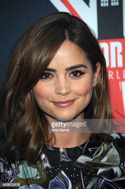 Jenna Coleman attends BBC America's 'Doctor Who' Premiere Fan Screening at Ziegfeld Theater on August 14 2014 in New York City