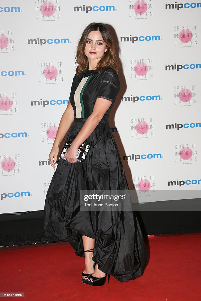 Jenna Coleman attends MIPCOM Opening Party at Martinez Hotel on October 17, 2016 in Cannes, France.
