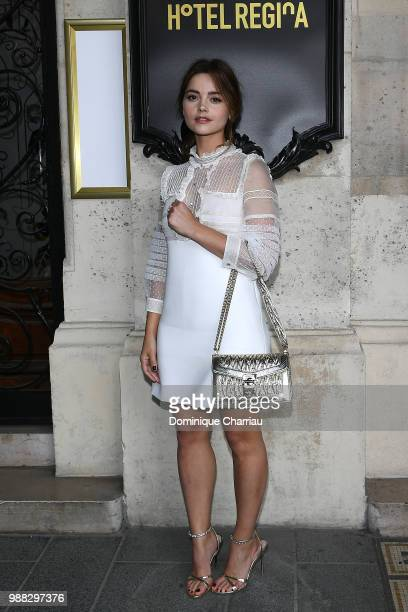 Jenna Coleman attends Miu Miu 2019 Cruise Collection Show at Hotel Regina on June 30 2018 in Paris France