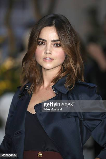 Jenna Coleman attends the Burberry show during London Fashion Week Spring/Summer collections 2016/2017 on September 19, 2016 in London, United...