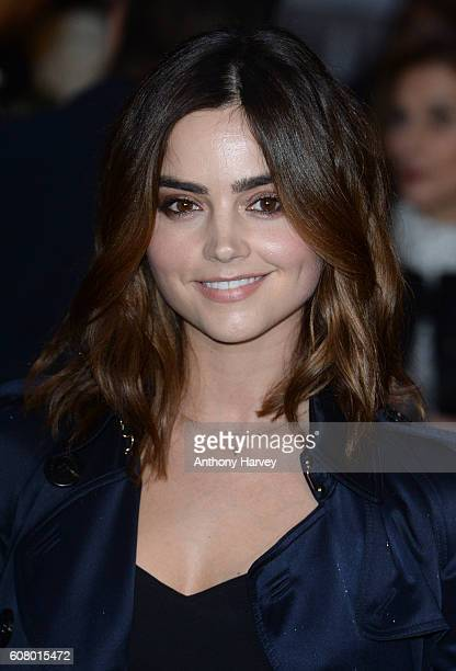Jenna Coleman attends the Burberry show during London Fashion Week Spring/Summer collections 2017 on September 19 2016 in London United Kingdom