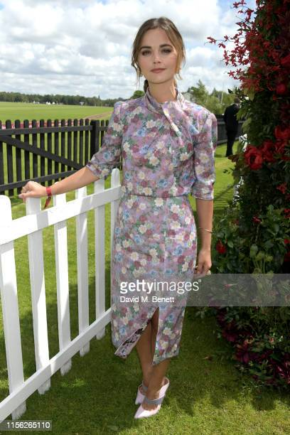 Jenna Coleman attends The Cartier Queen's Cup Polo Final 2019 on June 16, 2019 in Windsor, England.