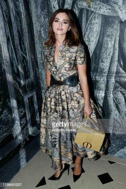 Jenna Coleman attends the Christian Dior Haute Couture Fall/Winter 2019 2020 show as part of Paris Fashion Week on July 01 2019 in Paris France