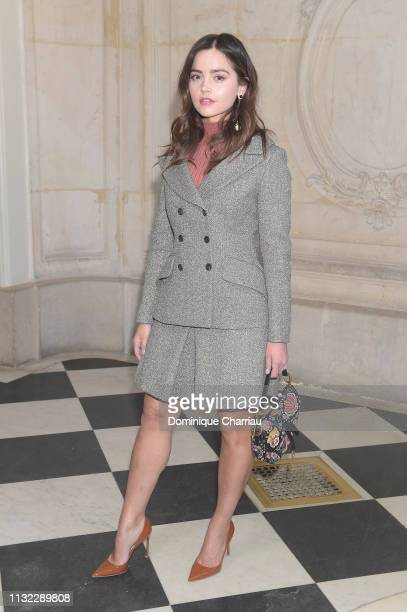 Jenna Coleman attends the Christian Dior show as part of the Paris Fashion Week Womenswear Fall/Winter 2019/2020 on February 26 2019 in Paris France