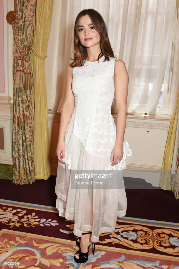 Jenna Coleman attends the Harper's Bazaar 150th Anniversary Party at William Kent House at The Ritz on May 2, 2017 in London, England.