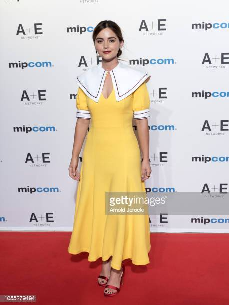 Jenna Coleman attends the opening ceremony red carpet of the MIPCOM 2018 on October 15 2018 in Cannes France
