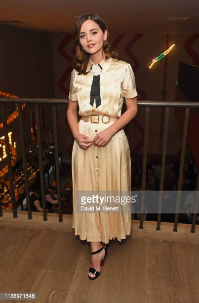 Jenna Coleman attends the press night after party for All My Sons at The Ham Yard Hotel on April 23 2019 in London England