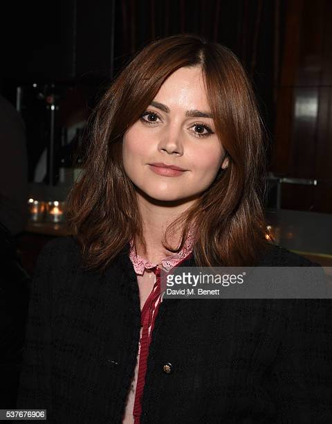 Jenna Coleman attends the press night after party for The Spoils written by and starring Jesse Eisenberg at The Cuckoo Club on June 2 2016 in London...
