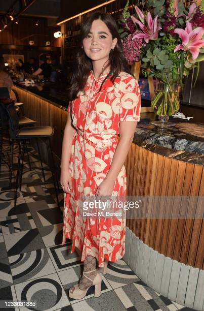 """Jenna Coleman attends the red carpet gala screening of Billie Piper's directorial debut """"Rare Beasts"""" at Everyman Broadgate on May 21, 2021 in..."""