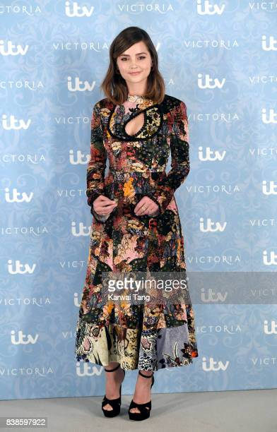 Jenna Coleman attends the 'Victoria' Season 2 press screening at the Ham Yard Hotel on August 24 2017 in London England