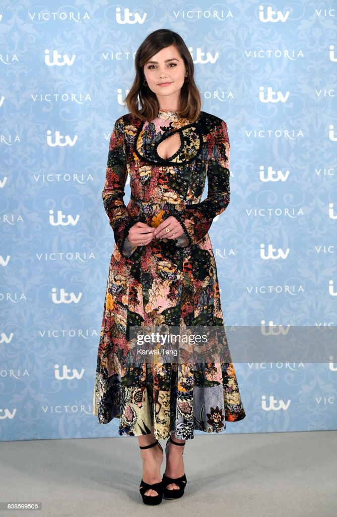 Jenna Coleman attends the 'Victoria' Season 2 press screening at the Ham Yard Hotel on August 24, 2017 in London, England.