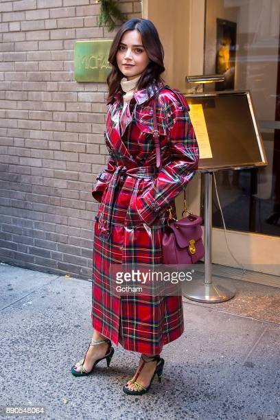 Jenna Coleman is seen in Midtown on December 11 2017 in New York City