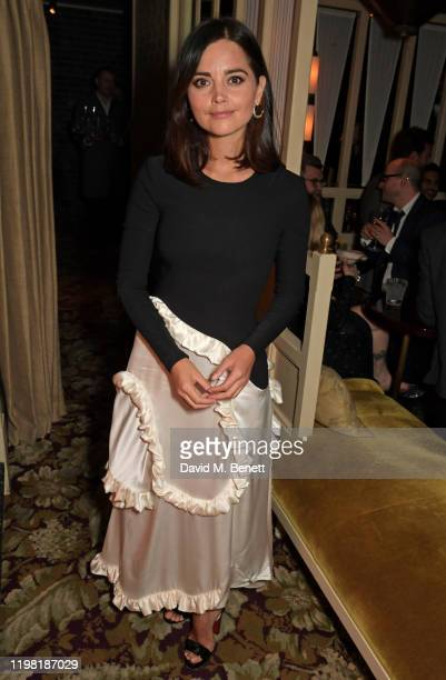 Jenna Coleman poses the Netflix BAFTA after party at Chiltern Firehouse on February 2, 2020 in London, England.
