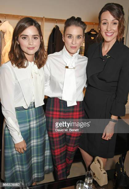 Jenna Coleman Vicky McClure and Suranne Jones attend the Burberry BAFTA Breakthrough Brits 2017 at the global Burberry flagship on October 25 2017 in...