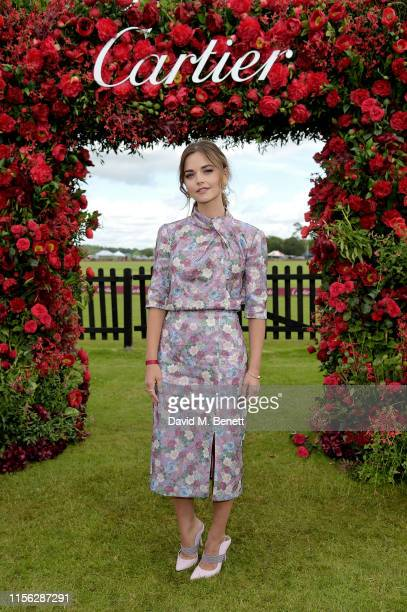 Jenna Coleman wearing Cartier attends Cartier Queen's Cup Polo 2019 on June 16, 2019 in Windsor, England.