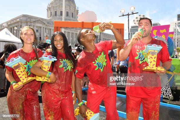 Jenna Compono Kam Williams Leroy Garrett and Chris 'CT' Tamburello attends Double Dare presented by Mtn Dew Kickstart at Comedy Central presents...