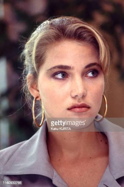 Jenna de Rosnay lors d'un défilé Christian Dior à Tokyo le 22 mai 1986 Japon