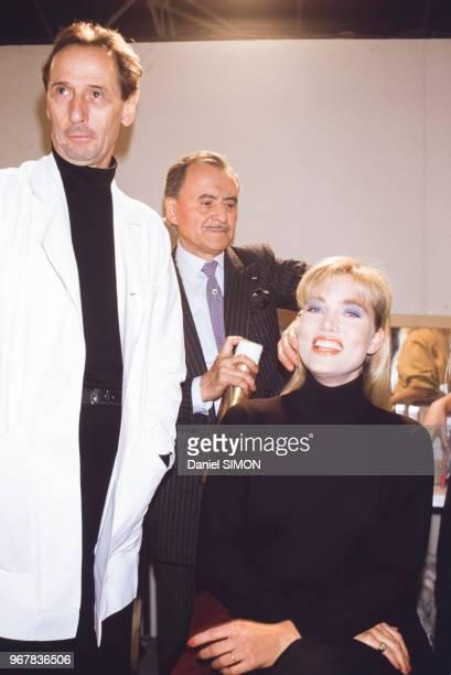 Jenna de Rosnay mannequin chez Dior à Paris France le 24 mars 1986