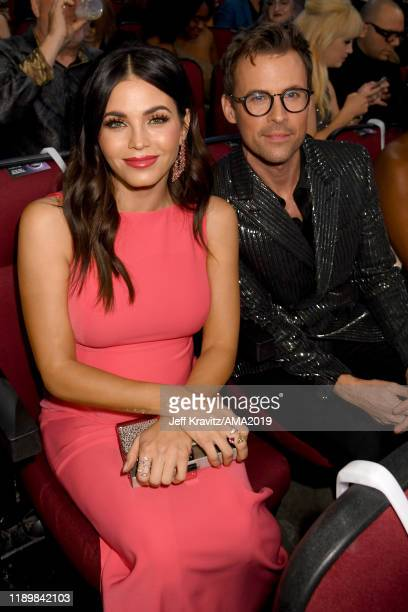 Jenna Dewan and Brad Goreski attend the 2019 American Music Awards at Microsoft Theater on November 24 2019 in Los Angeles California