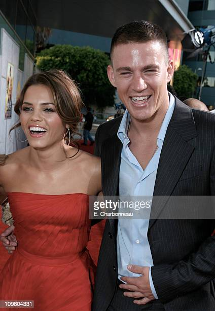 Jenna Dewan and Channing Tatum during The Los Angeles Premiere of Touchstone Pictures and Summit Entertainment's 'Step Up' at Archlight in Hollywood...