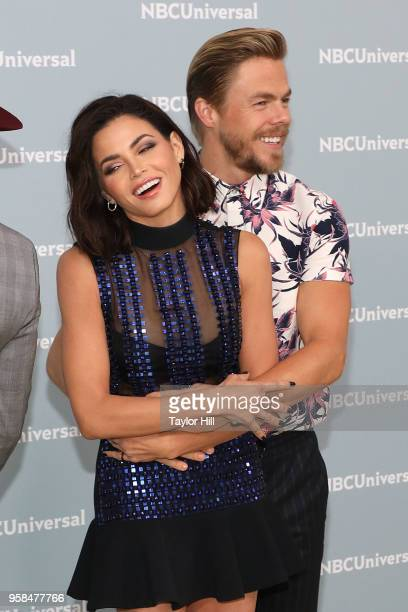 Jenna Dewan and Derek Hough attend the 2018 NBCUniversal Upfront Presentation at Rockefeller Center on May 14 2018 in New York City