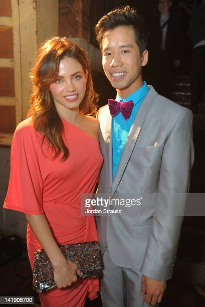 Jenna Dewan and Jared Eng attend Just Jared's 30th at Pink Taco on March 23 2012 in Los Angeles California
