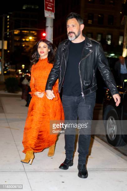 Jenna Dewan and Steve Kazee are seen in SoHo on October 23, 2019 in New York City.