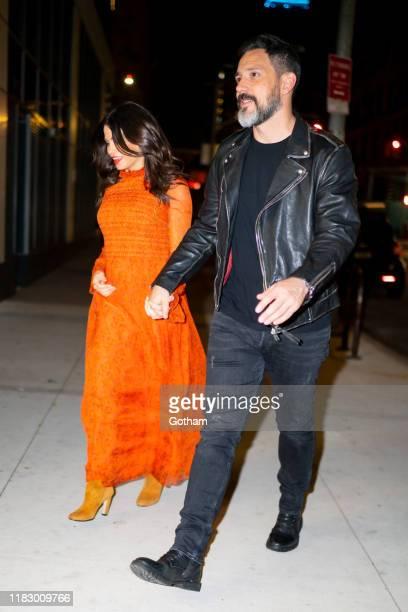 Jenna Dewan and Steve Kazee are seen in SoHo on October 23 2019 in New York City