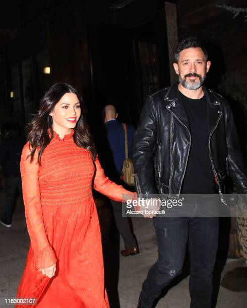 Jenna Dewan and Steve Kazee are seen leaving their Midtown hotel on October 23 2019 in New York City