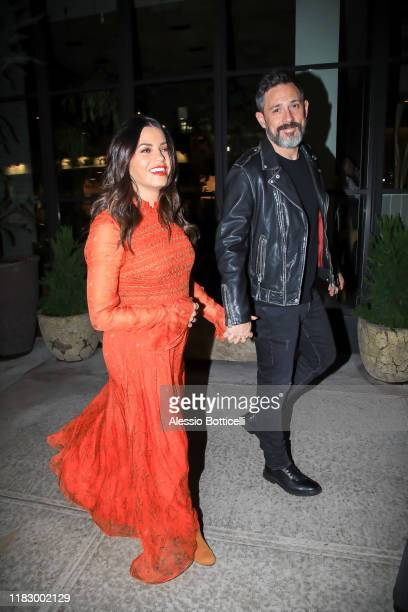 Jenna Dewan and Steve Kazee are seen leaving their Midtown hotel on October 23, 2019 in New York City.