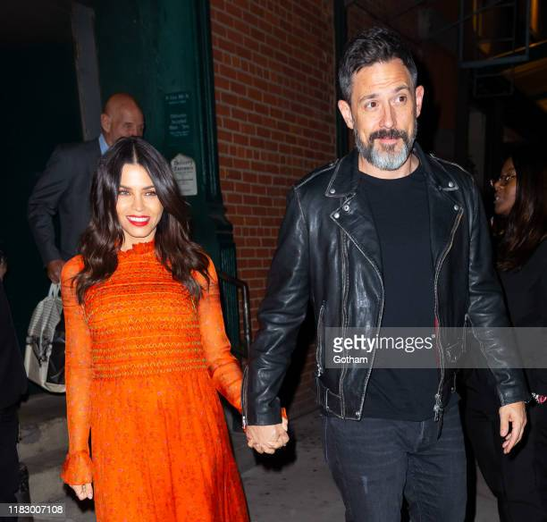 Jenna Dewan and Steve Kazee are seen on October 23 2019 in New York City
