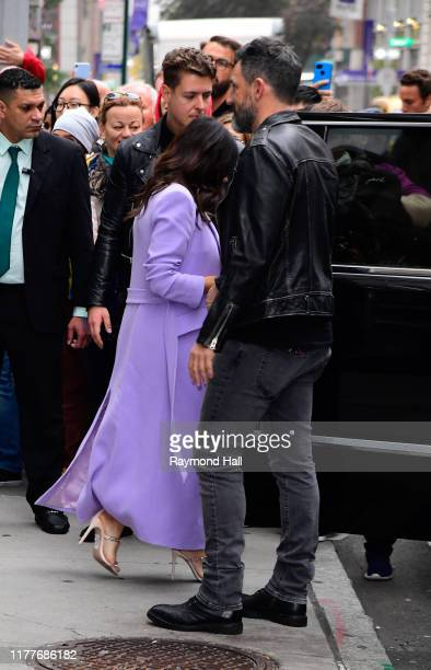 Jenna Dewan and Steve Kazee are seen outside Build Studio on October 22 2019 in New York City