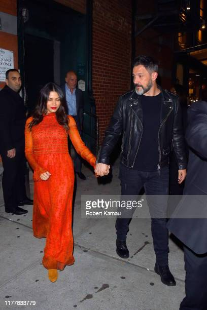 Jenna Dewan and Steve Kazee seen out and about in Manhattan on October 23 2019 in New York City