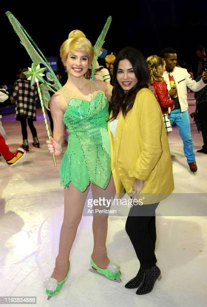 Jenna Dewan attends Disney On Ice Presents Mickey's Search Party Holiday Celebrity Skating Event at Staples Center on December 13, 2019 in Los...