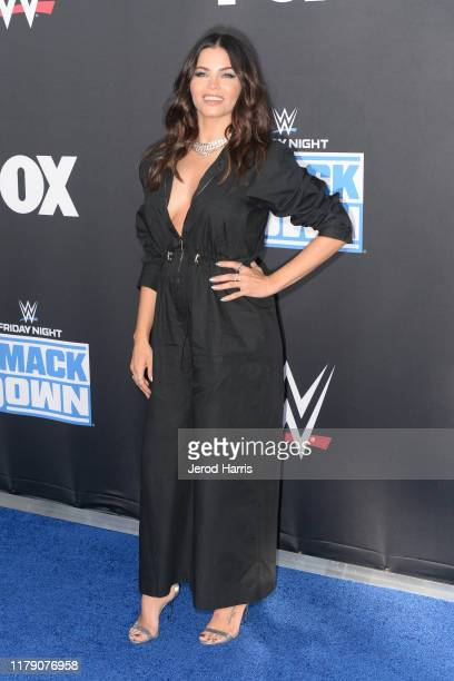 Jenna Dewan attends WWE 20th Anniversary Celebration Marking Premiere of WWE Friday Night SmackDown on FOX at Staples Center on October 04, 2019 in...