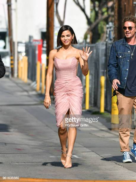 Jenna Dewan is seen arriving at the 'Jimmy Kimmel Live' on May 22 2018 in Los Angeles California