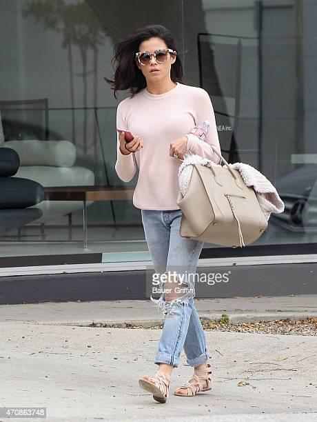 Jenna Dewan is seen in Los Angeles on April 23 2015 in Los Angeles California