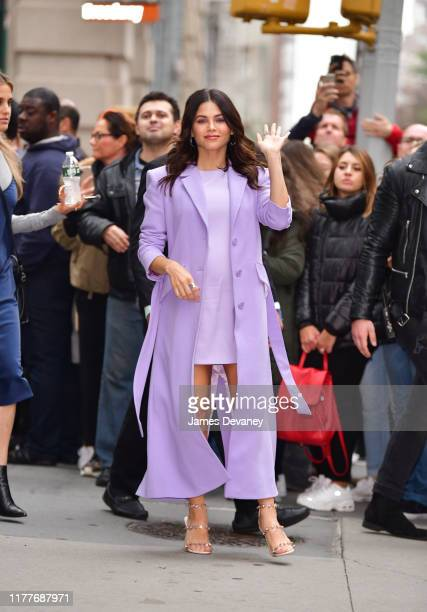 Jenna Dewan is seen outside the Build Studio on October 22, 2019 in New York City.