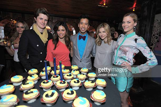 Jenna Dewan Jared Eng Chloe Moretz and Jaime King attend Just Jared's 30th at Pink Taco on March 23 2012 in Los Angeles California